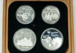 1976 4 Canadian Coin Olympic Set